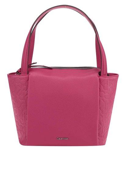 Růžová kabelka se vzorem Calvin Klein Jeans Misha