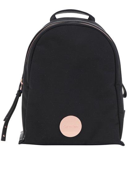 Černý dámský batoh na zip s aplikací Calvin Klein Jeans