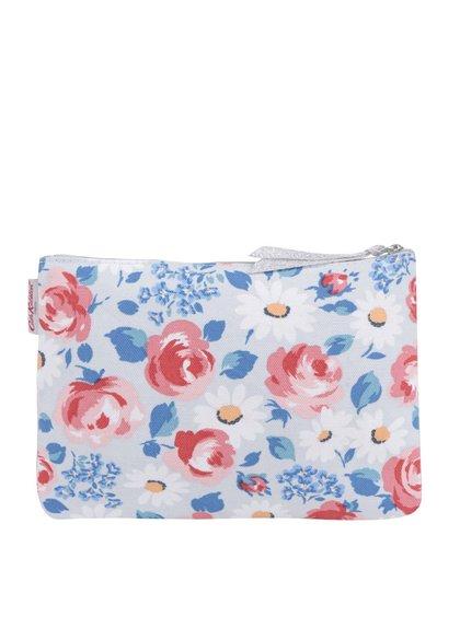 Růžovo-šedá květovaná kosmetická taštička Cath Kidston