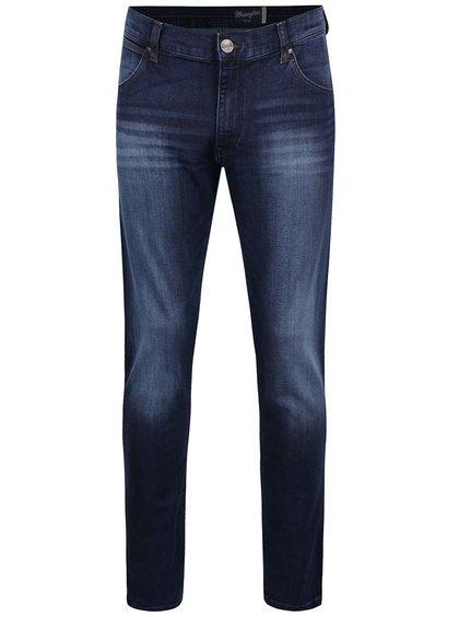 Tmavě modré pánské slim džíny s vyšisovaným efektem Wrangler Larston