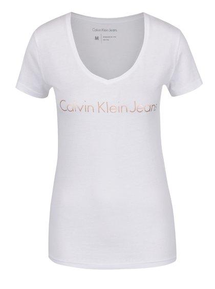 Bílé dámské tričko Calvin Klein Jeans Tess