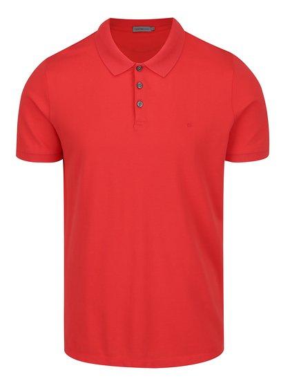 Červené pánské polo triko Calvin Klein Jeans Paul