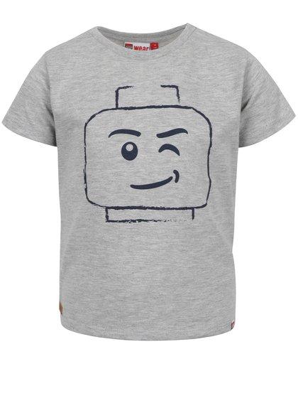 Šedé klučičí triko s potiskem LEGO Wear Teo