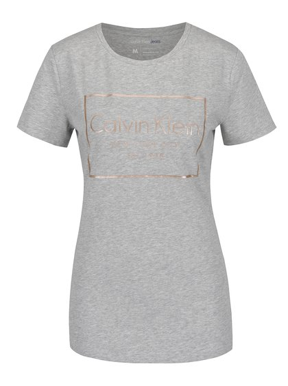 Šedé dámské tričko Calvin Klein Jeans Tanya