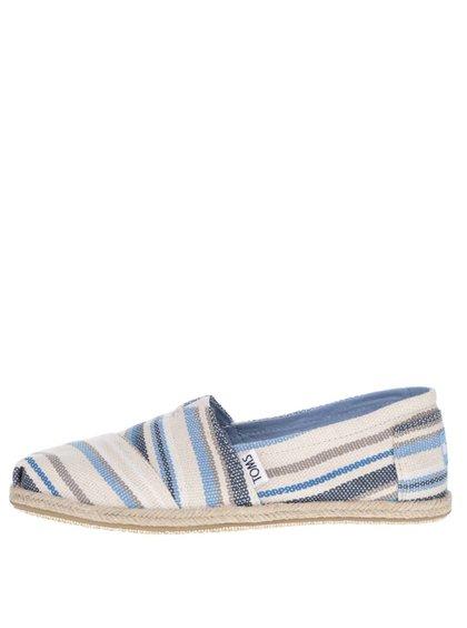 Modro-krémové dámské pruhované loafers TOMS