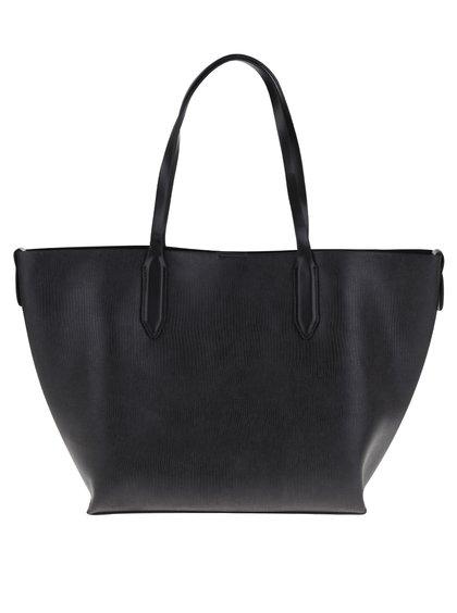 Geantă shopper neagră 2 în 1 Pieces Sonia