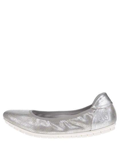 Baleríny ve stříbrné barvě s.Oliver