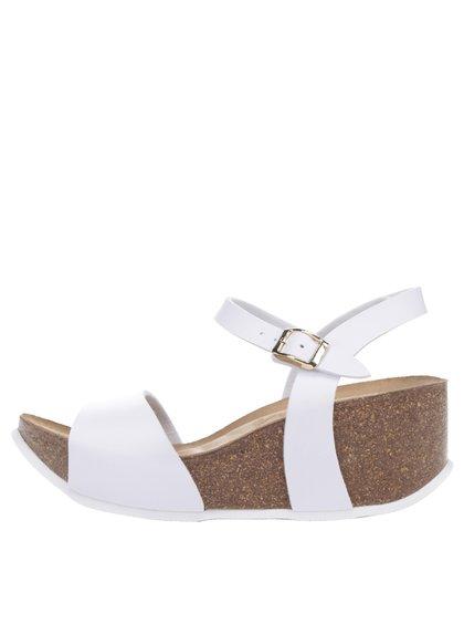 Bílé dámské sandály s kovovým detailem OJJU