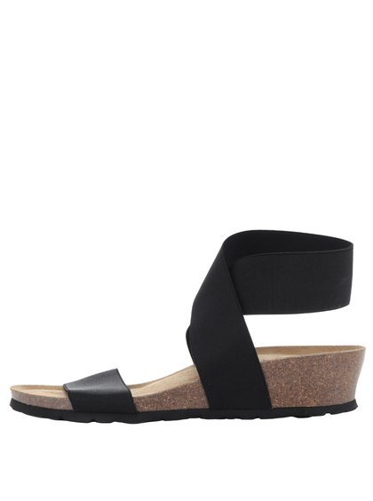 Sandale negre OJJU cu barete elastice