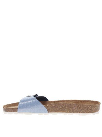Papuci bleu OJJU cu accesoriu metalic