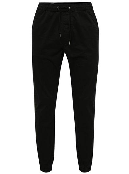 Černé kalhoty s pružným pasem Jack & Jones Vega