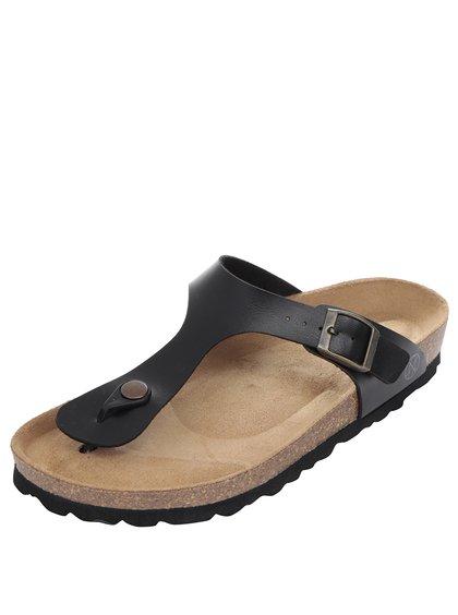 Papuci negri OJJU cu accesoriu metalic