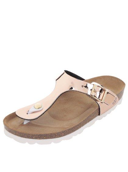 Papuci roz OJJU cu accesoriu metalic