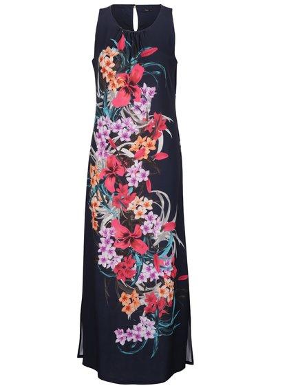 Rochie maxi albastru închis M&Co cu model floral