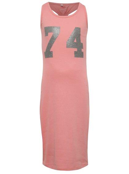 Rochie lungă roz name it Jaxi cu print