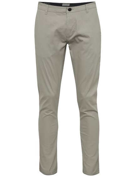 Pantaloni chino gri deschis ONLY & SONS Trop