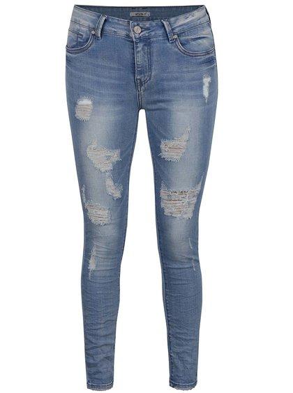 Modré džíny s potrhaným efektem Haily's Carla