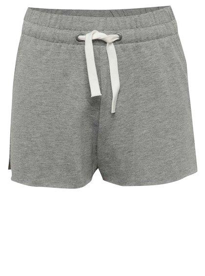 Pantaloni scurți gri melanj LIMITED by name it Spring din bumbac pentru fete