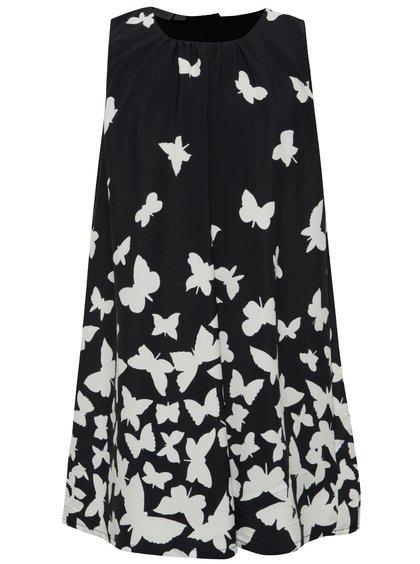 Tmavě modré holčičí šaty s motýlky name it Kanny
