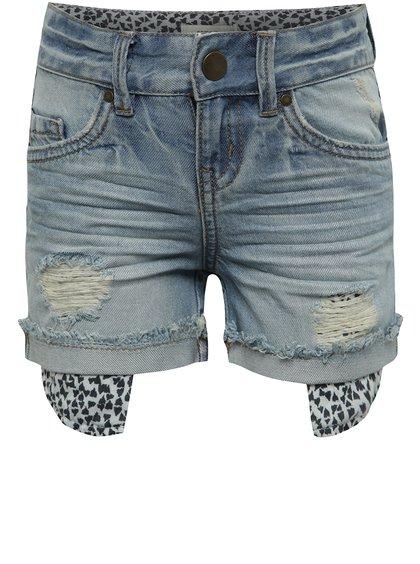 Pantaloni scurți albaștri name it Belli cu aspect deteriorat pentru fete