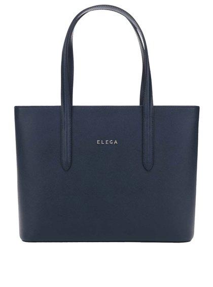 Modrá kožená velká kabelka Elega Simone
