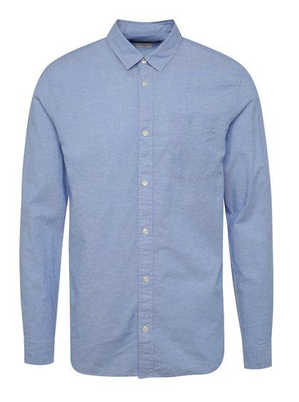 Světle modrá slim fit košile s příměsí lnu Jack & Jones Summer