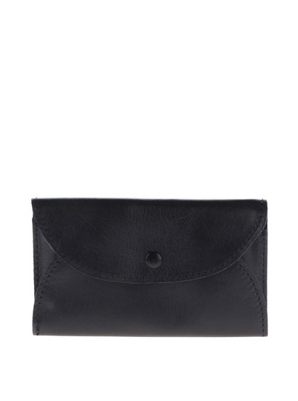 Černá kožená dámská mini peněženka KOZAK