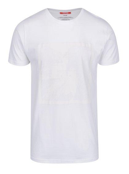Bílé pánské triko s potiskem mcm89