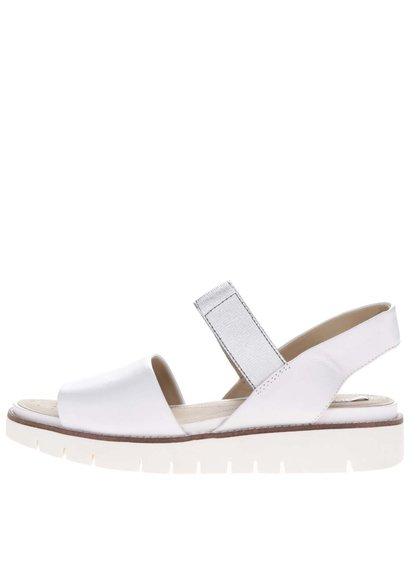 Bílé dámské kožené sandály Geox Darline