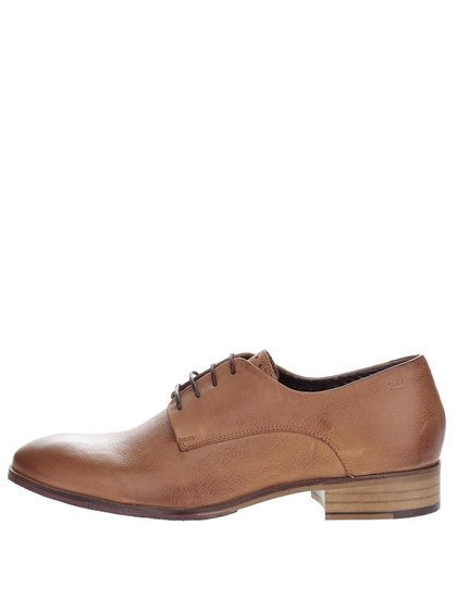 Pantofi maro London Brogues Wister Derby din piele