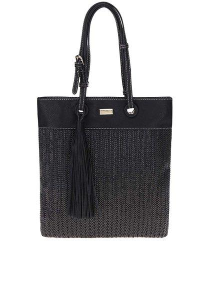 Černá velká kabelka se střapcem Gionni Bella