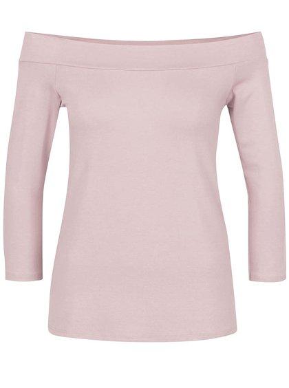 Bluză roz pal ZOOT cu decolteu pe umeri