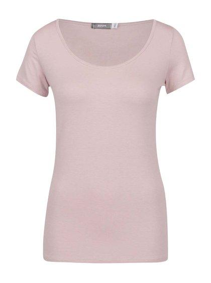 Starorůžové basic tričko s kulatým výstřihem ZOOT