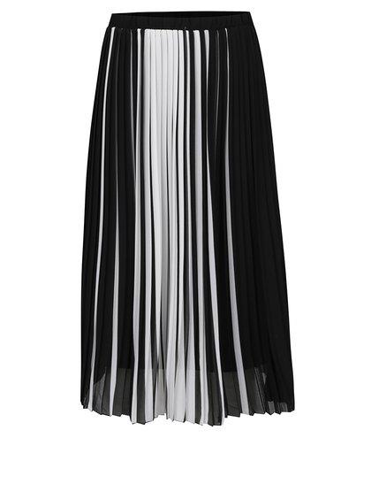 Bílo-černá plisovaná sukně TALLY WEiJL
