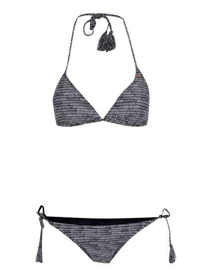 Bílo-černé dámské vzorované dvoudílné plavky O'Neill