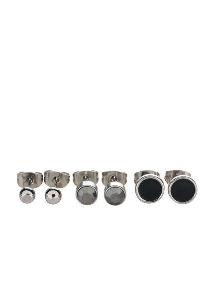 Set de 3 perechi de cercei argintii Pieces Malle