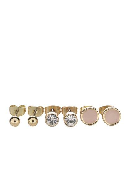 Set de 3 perechi de cercei aurii Pieces Malle
