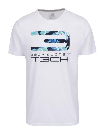 Bílé triko s potiskem Jack & Jones Tropic