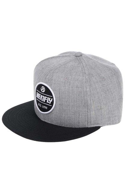 Șapcă gri melanj MEATFLY Troop 17 cu logo brodat pentru bărbați