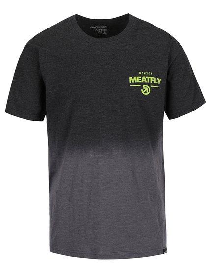 Tricou gri în degrade MEATFLY Spill pentru bărbați