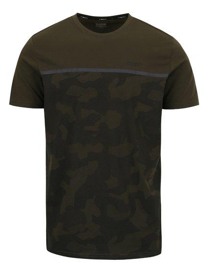 Tricou verde închis Jack & Jones Camo cu imprimeu camuflaj