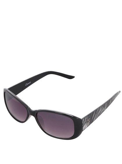 Ochelari de soare pentru femei Gionni - negru cu imprimeu zebră