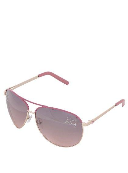 Ochelari de soare roz Gionni cu ștrasuri