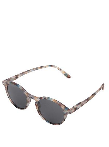 Hnědo-modré vzorované unisex sluneční brýle s černými skly IZIPIZI  #D