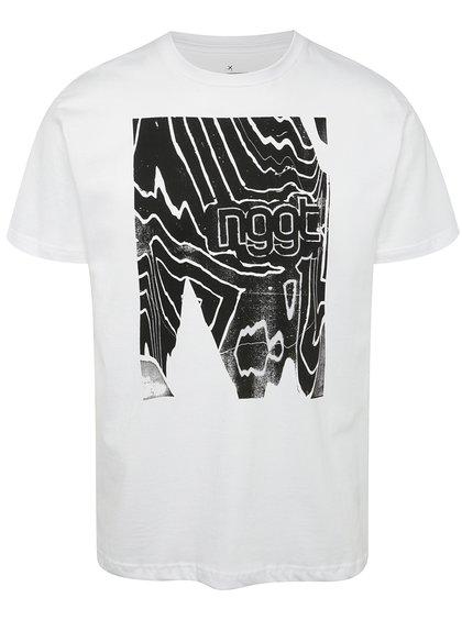 Tricou alb cu print NUGGET Anomaly pentru bărbați
