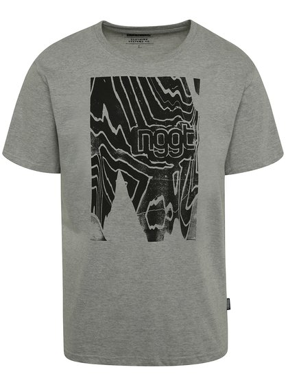 Tricou gri cu print NUGGET Anomaly pentru bărbați