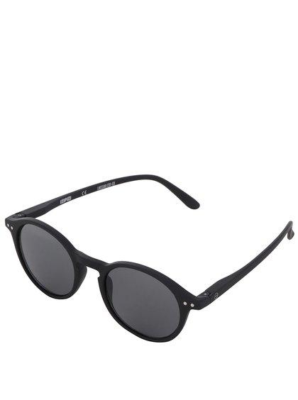 Černé unisex sluneční brýle s černými skly IZIPIZI #D