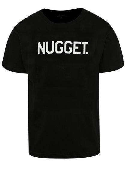 Tricou negru cu print NUGGET Logo pentru bărbați