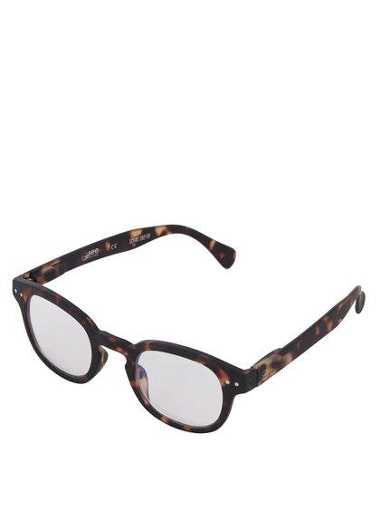 Hnědo-černé unisex ochranné brýle k PC IZIPIZI #C