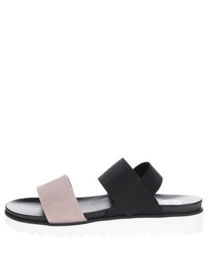 Béžovo-černé dámské sandály OJJU